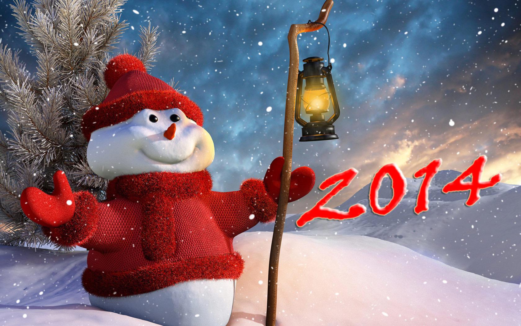 Открытки. Праздники Открытки на Новый год 2014