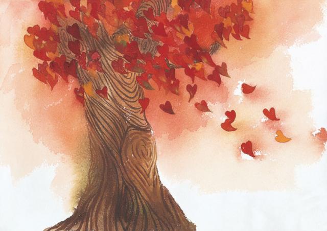 Любовь осенняя открытка про любовь