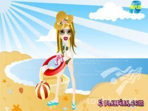 Кукла Братз на пляже
