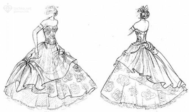 выкройка пышного свадебного платья